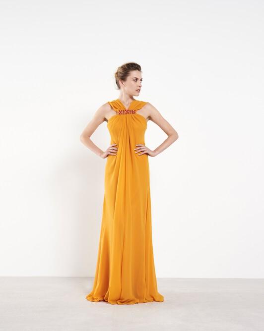 Chiffon gown - Safran