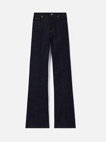 Pantalon large en denim - Marine