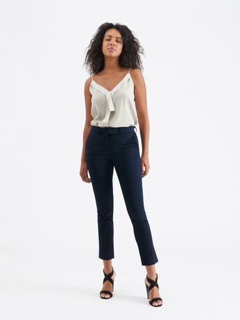 Cotton-ottoman pants - Encre