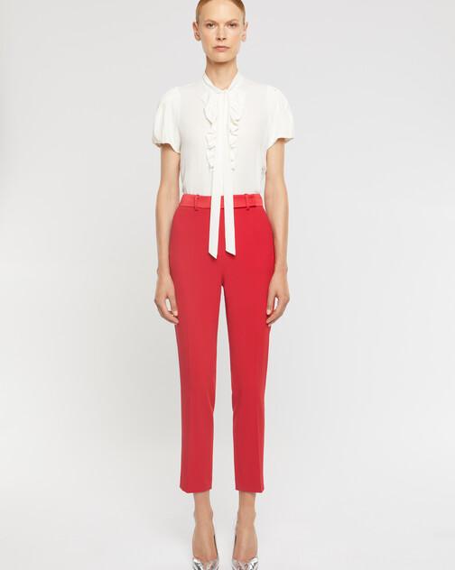 Satin-back crepe pants