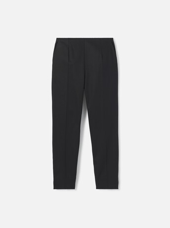 Pantalon en gabardine de coton stretch - Noir
