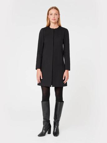 Cotton coat - Noir