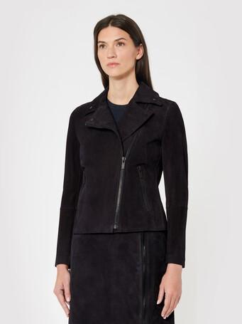 Lambskin leather jacket - Navy blue