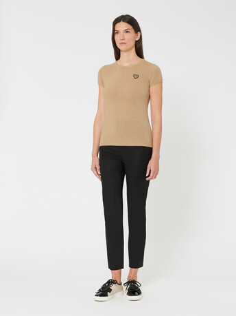 Wool and cashmere sweater - Beige