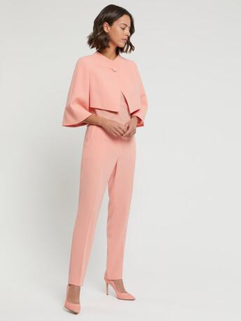 Veste habillée en crêpe envers satin - Eau de rose