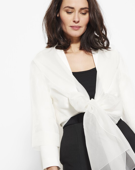 Organza bolero - Off white