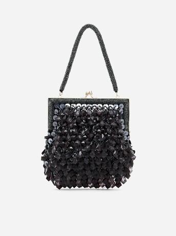 Pochette en perles de cristal - Noir