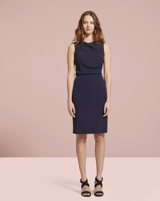 Viscose dress - Navy blue