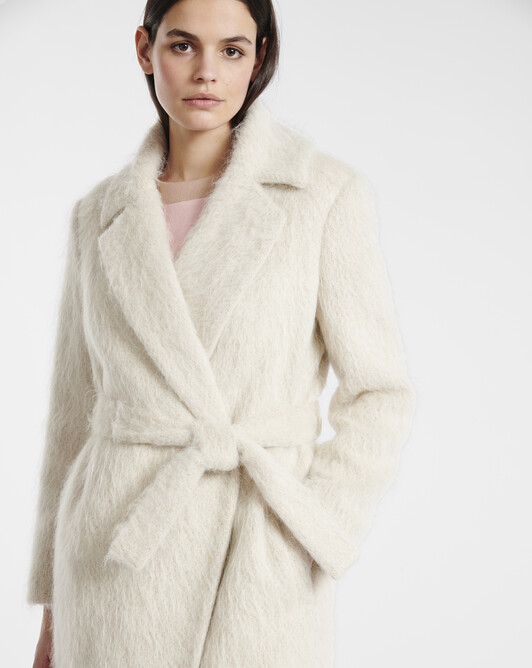 Manteau en mohair pastel - beige