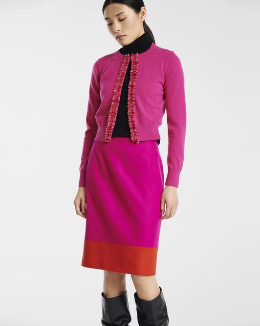 Cashmere wool cardigan - Fuchsia