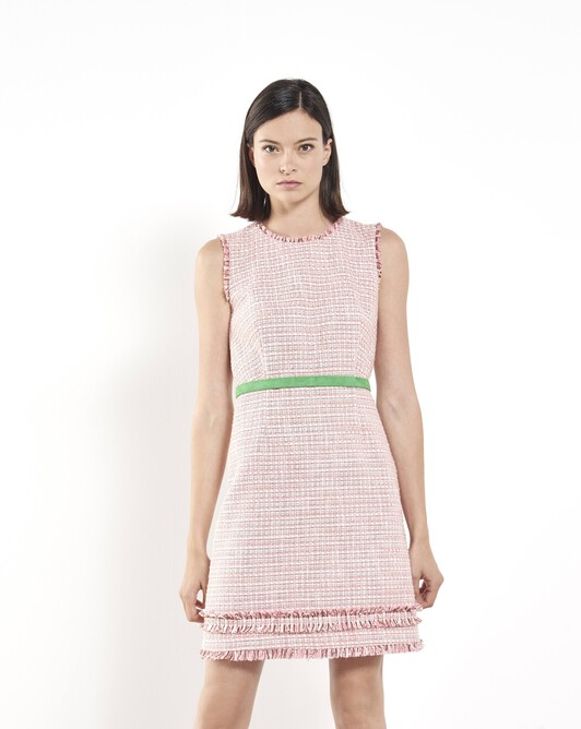 Woven tweed dress - Peony