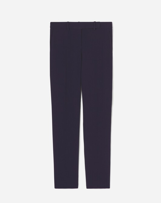 Satin-back crepe pants - Navy blue