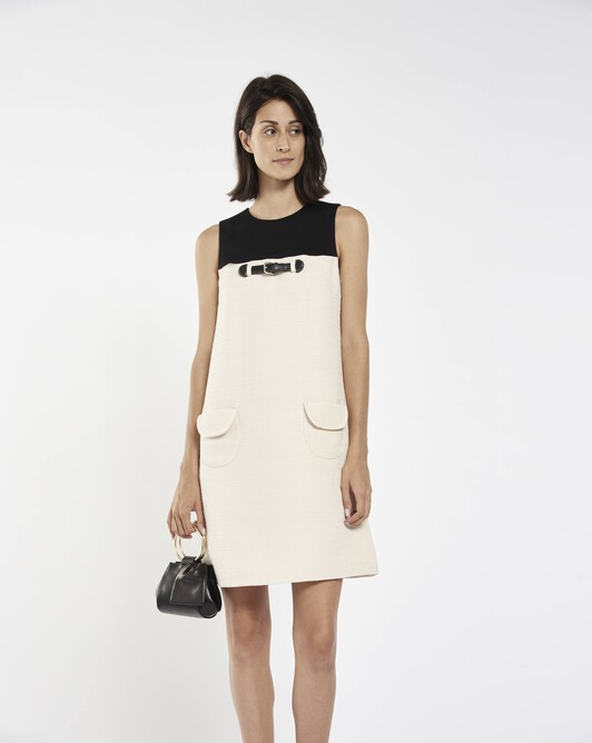 Dress in cotton dobby  - Ivory