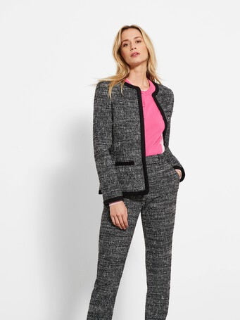 Veste en tweed chiné - Noir