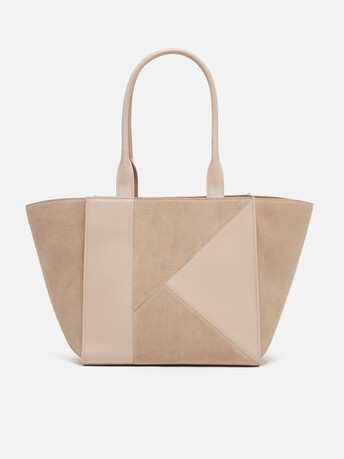 Calfskin leather bag - Nude