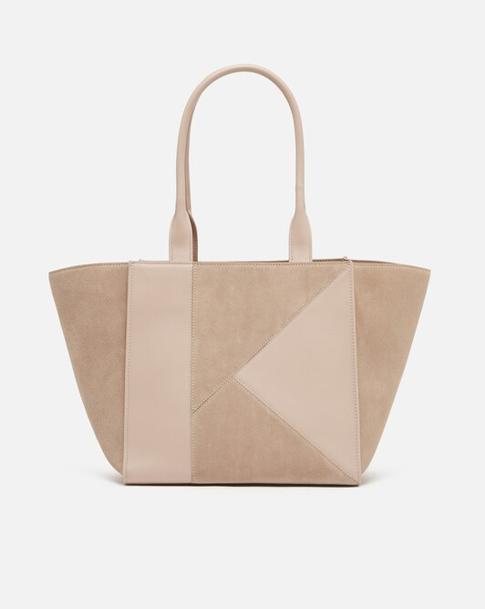 Calfskin leather bag - Nude