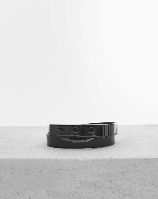 Patent leather belt - Noir
