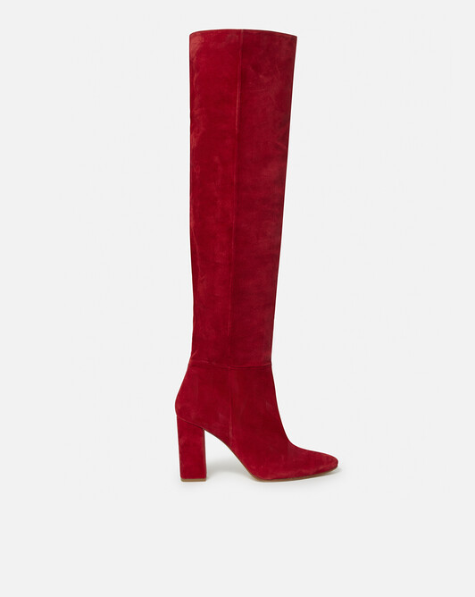 Suede boots - Rouge