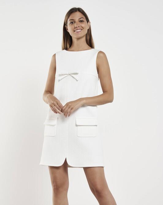 Robe en piqué de coton - Blanc