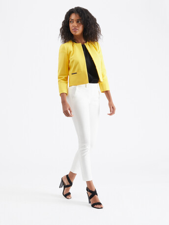 Cotton-tricotine jacket - Mimosa