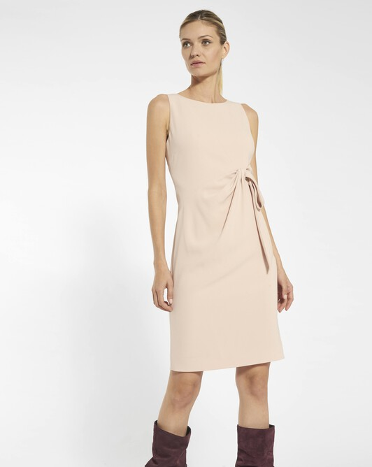 Satin-back crepe dress - Pale pink