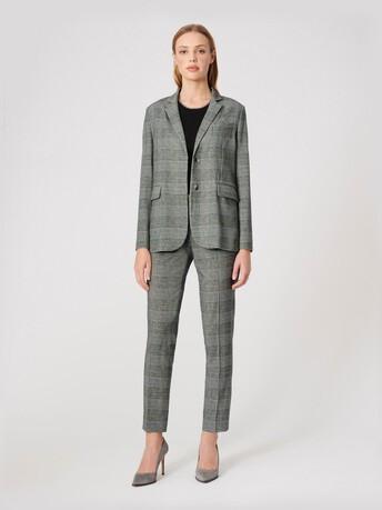 Flannel pants - Noir / blanc casse