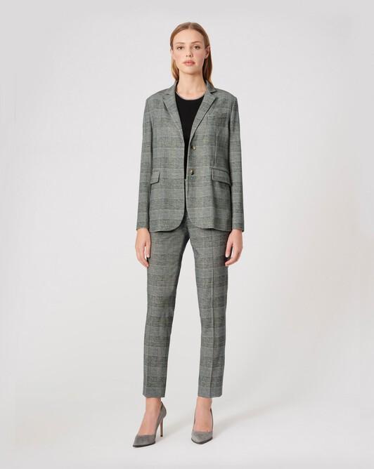 Pantalon en flanelle - Noir / blanc casse