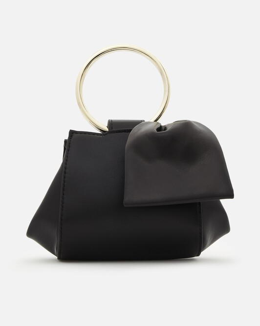 Nappa leather clutch - Noir