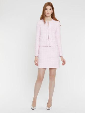Ribbon-tweed skirt - Opale