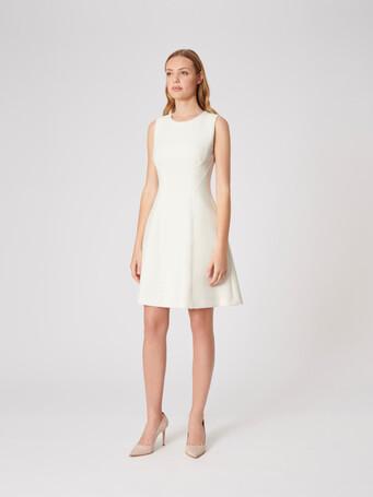 Stretch-tricotine dress - Off white