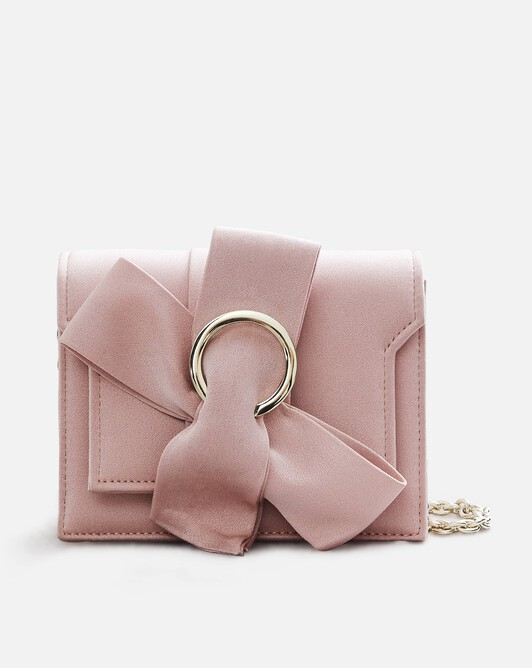 Sac en crêpe envers satin - Rose pale