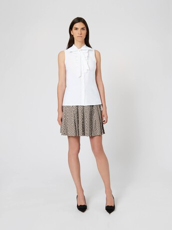 Cotton poplin shirt - White