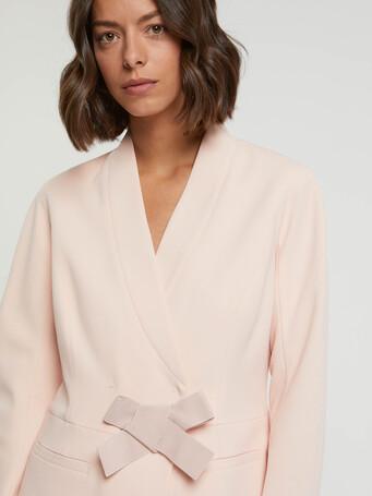 Satin-back crepe jacket - Poudre