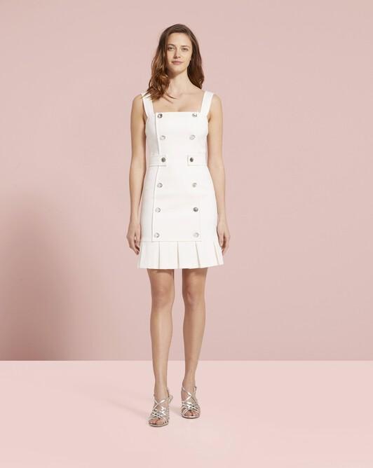 Stretch-ottoman dress - Off white