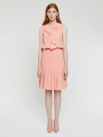 Satin-back crepe skirt - Eau de rose