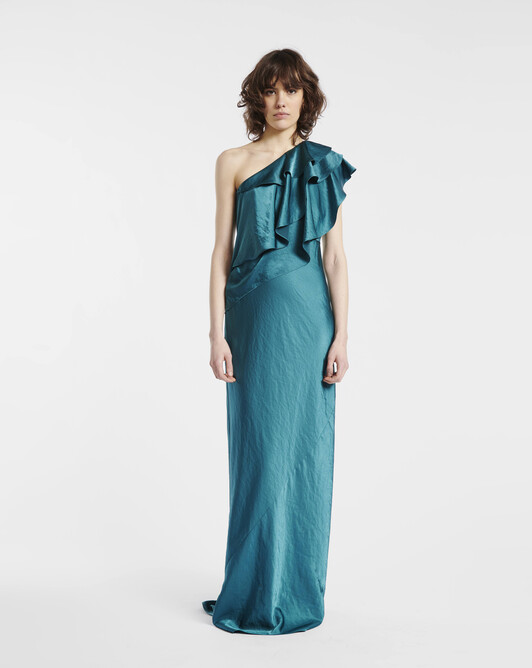 Fluid satin dress - Canard