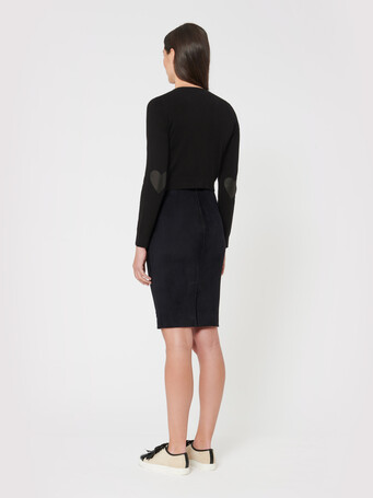 Wool and cashmere cardigan - Noir