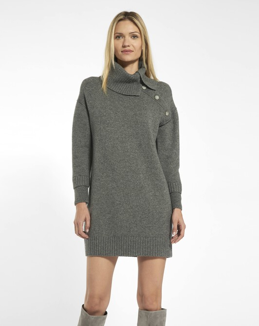 Cashmere wool dress - charcoal grey