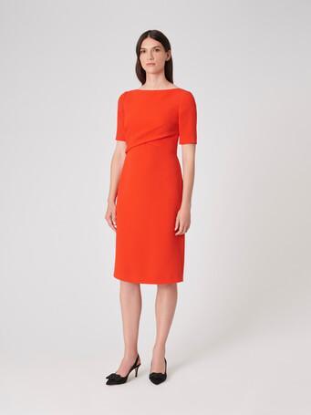 Crepe dress - Cornaline