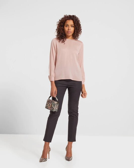 Stretch charmeuse top - Rose pale