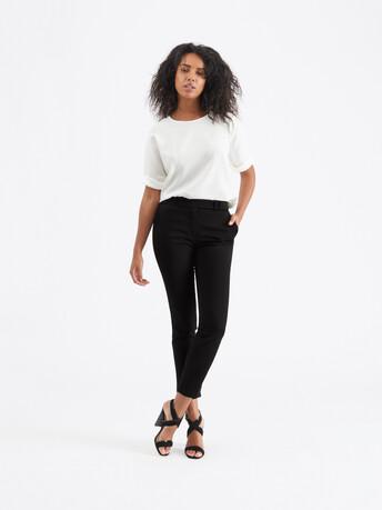 Pantalon en ottoman de coton - Noir