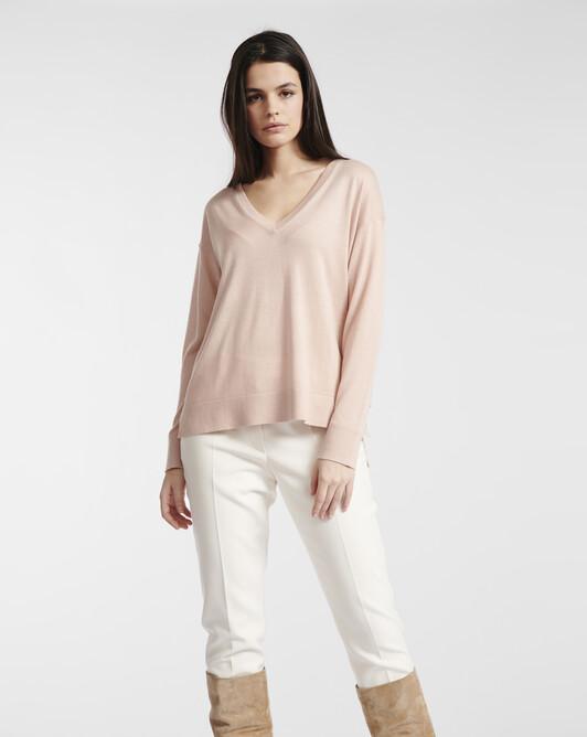 Silk cashmere sweater - Rose pale