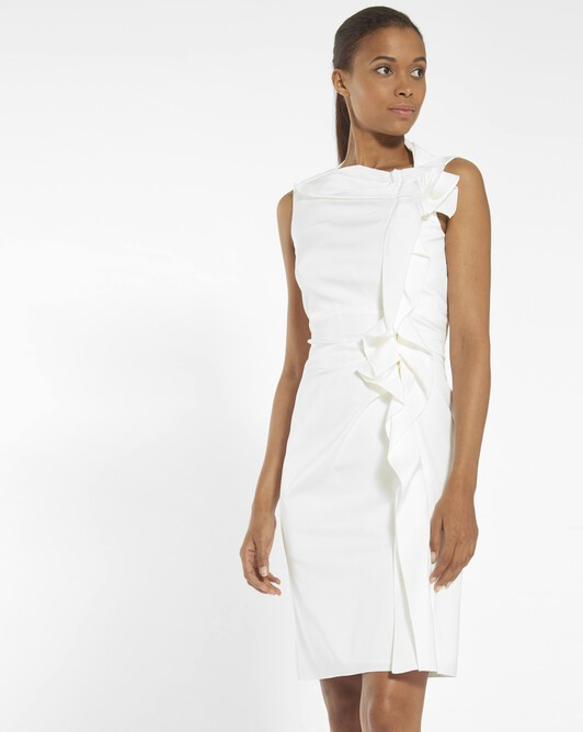 Dress in ottoman stretch - Off white