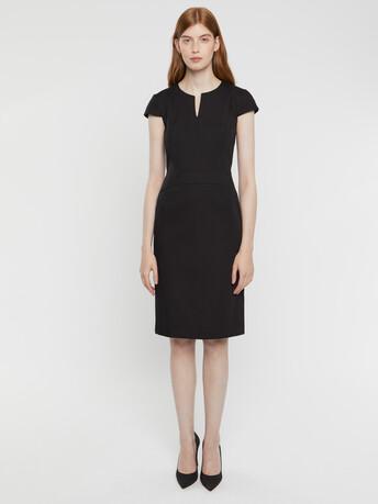 Robe en coton couture - Noir
