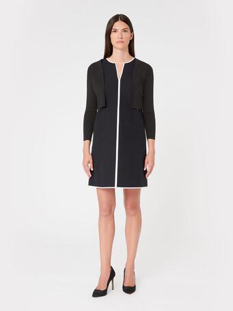 Silk and cotton cardigan - Noir