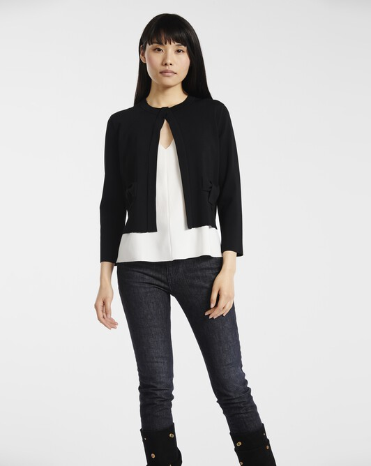 Cardigan in fancy viscose - Noir