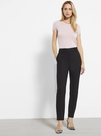 Stretch tricotine trousers - Noir