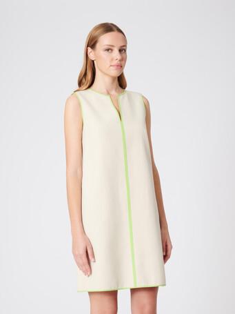 Robe en coton bicolore - Sable/bubble