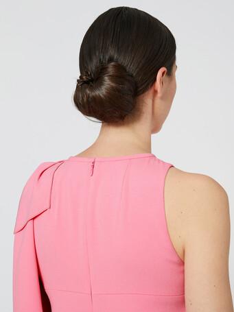Satin-back crepe dress - Bubble gum