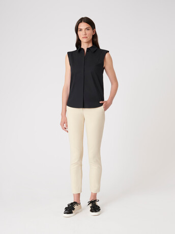 Cotton poplin shirt - Noir
